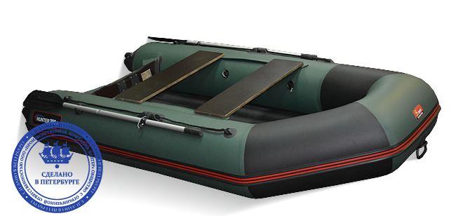лодка хантер 290 а с надувным дном видео